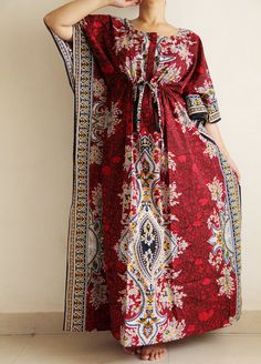 Plus size delivery gown indian caftan Maternity by ADifferentWeave ...