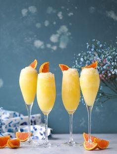 Break out the shades, these frozen drinks will immediately transport you to your favorite beach. Check out our favorite recipes for a great tropical cocktail. Mimosa Cocktail Recipes, Cocktail Drinks, Recipe For Mimosa, Wine Cocktails, Summer Drinks, Fun Drinks, Alcoholic Drinks, Beverages, Cocktail