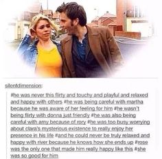 I miss him and her together. The Doctor and Rose Tyler. Together in the TARDIS. As it should be.