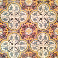 Vintage tiles, 200 years old, old St Joseph Institution Chapel floor