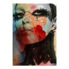 © Vincenzo Rizzo - Siracusa / print of original painting + mixed media pc graphics #Art #Painting #Woman #Face