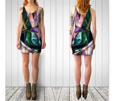 "Bodycon+dress+""Deep+Sea+4""+by+Kimberly+Rae+Hansen+Digital+Artistry+~+Fractalicious®"