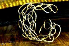 "Bracelet ""MULTICERCHI"" lost wax silver 925, handmade by extrême"
