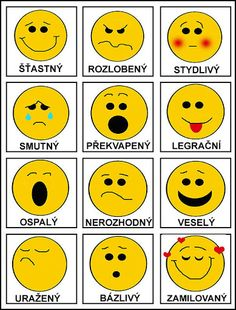 Emotions in Czech Emotions Preschool, Preschool Themes, Preschool Crafts, Kindergarten Art Projects, Kindergarten Worksheets, Book Activities, Toddler Activities, Sudoku, School Decorations