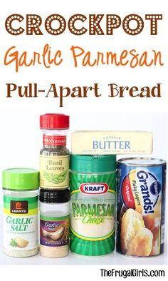 Crockpot Garlic Parmesan Pull-Apart Bread Recipe!