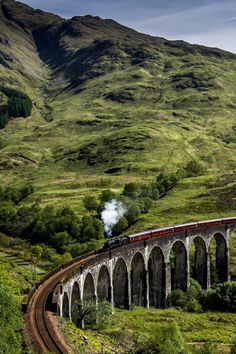 Glenfinnan Viaduct, Scottish Highlands near Glen Coe. Coming soon to From the Upside! The Places Youll Go, Places To See, Glen Coe, Scotland Travel, Scotland Top, England And Scotland, Scottish Highlands, Adventure Is Out There, Outlander