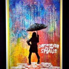 Lady - Umbrella - Stamp - Sparkle in the Rain - Visible Image Ladies Umbrella, 2017 Inspiration, Image Stamp, Woman Silhouette, Rain, Sparkle, Breakdance, Cards, Painting