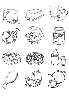 Printable Food Coloring Pages . 24 Printable Food Coloring Pages . Free Printable Food Coloring Pages for Kids Coloring Free Kids Coloring Pages, Food Coloring Pages, Coloring Sheets For Kids, Mandala Coloring Pages, Kids Colouring, Printable Coloring, Healthy Habits, Healthy Recipes, Healthy Foods