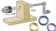 How to make your own coiling tool by Howard Siegel. With just some wood scraps, a bit of hardware, a drill, and these plans, you can build your own basic coil winder for cheap! Art Jewelry. Facet Jewelry. FacetJewelry.com. Jump rings. How to make your own jump rings.