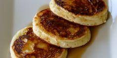 Τηγανίτες με γιαούρτι Yams, Pancakes, Cooking Recipes, Breakfast, Sweet, Food, Morning Coffee, Candy, Chef Recipes