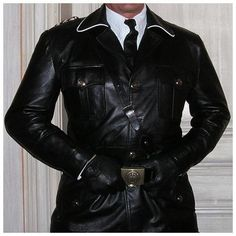 GERMAN World War 2 LEATHER UNIFORM TUNIC Jacket ww2 jacket By SBL