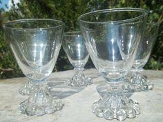Vintage Set of 5 Candleholder Glasses by TheHoneysuckleTree