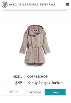 Stitch Fix April 2017 - Coffeeshop Kirby Cargo Jacket - Returned