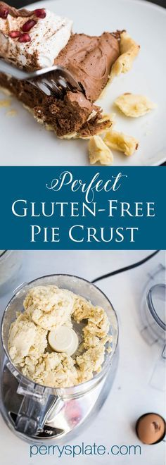 The only gluten-free pie crust you'll ever need. And no one will know the difference! | pie crust recipe | gluten-free recipes | gluten-free dessert recipes | perrysplate.com
