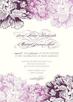 wedding invitations - Peony and Plum by Citrus Press Co.