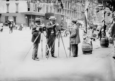 New York City, street photographers in Little Italy, circa early 1920s.