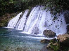 We've got to stop to admire Reach Falls located in Port Antonio, Jamaica.