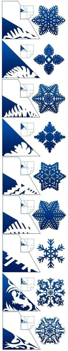 Copo de nieve de papel de corte.