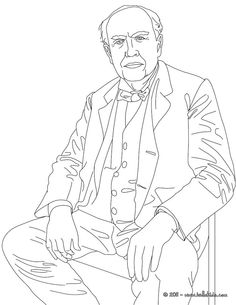 Thomas Edison - History coloring pages for kids 067 ...