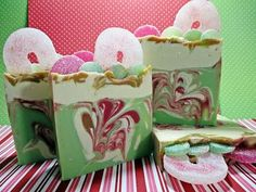 Dance Of The Candy Canes Handmade Cold process Soap Making Video Christmas Soap, Soap Tutorial, Home Spa Treatments, Cool Things To Make, How To Make, Lotion Bars, Cold Process Soap, Soap Recipes, Home Made Soap