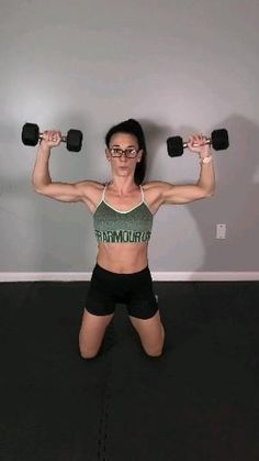 Fitness Workouts, Gym Workout Videos, Body Workout At Home, Gym Workout For Beginners, Fitness Workout For Women, At Home Workouts, Chest Workout Women, Yoga Fitness, Dumbbell Arm Workout