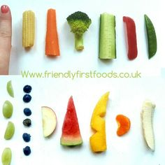 I am always being asked about what size and shape I cut Harry's first finger foods into. I have put this post together to share with everyone how I served Harry's food to him.