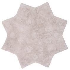 Tapis 100% coton antidérapant étoile lavable en machine D.90cm LITTLE STELLA