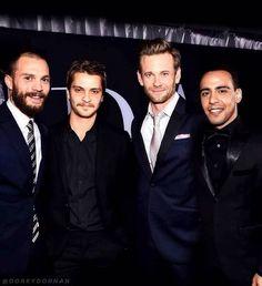 Jamie dornan and the co-stars fifty shades darker premiere  Christian, Elliot, Jack, José  #FiftyShadesDarker #Premiere