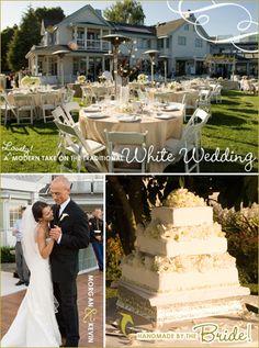 Fabulous White Wedding Inspiration (DIY!)