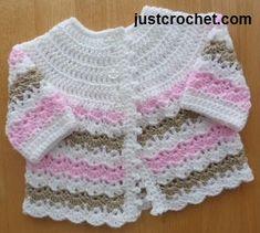 Bebé crochet libre abrigo patrón bebé EE.UU.