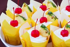 I could sit by the pool and eat these Pina Colada Cupcakes.