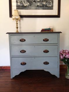 Elegant Mahogany Chest Of Drawers hand painted Annie Sloan Chalk paint distressed shabby chic on Etsy, $313.86