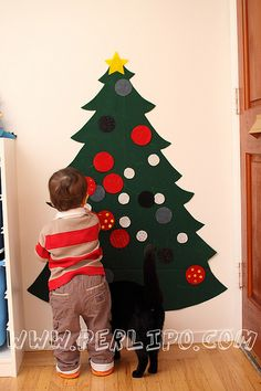 Christmas Tree  en feutre  Perlipo
