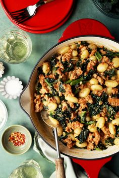 One Skillet Sausage and Kale Gnocchi - The Candid Appetite