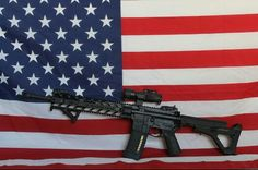 Who doesn't love a field of blue, 50 white stars, 7 red stripes, 6 white stripes, and the tool used to defend them?