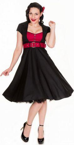 Retro Sexy A-line Patchwork Knee-length Belt Dress