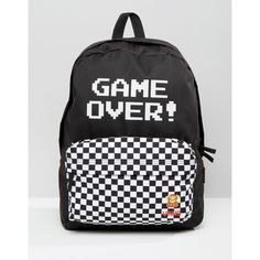 Vans Nintendo Game Over Backpack ($55) ❤ liked on Polyvore featuring bags, backpacks, multi, day pack backpack, backpack bags, top handle bags, vans bag and vans backpack