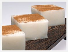 Tembleque (Coconut Pudding) by Chef Wilo Benet Serves 10 to 12 Ingredients: 2 cans Goya coconut milk cups … Continue reading → Puerto Rican Dishes, Puerto Rican Cuisine, Puerto Rican Recipes, Boricua Recipes, Comida Boricua, Pozole, Mousse, Köstliche Desserts, Dessert Recipes