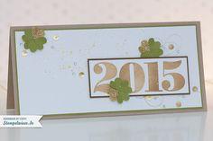 Happy New Year - Grußkarte in Gold • Stempelwiese