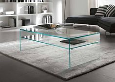 Modern Glass Coffee Table www.rilane.com