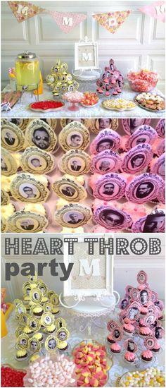 Shabby Chic Backstreet Boys 30th Birthday   use past heart throb or band as party theme <3 so fun!