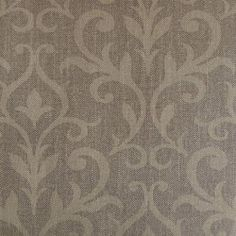 Diseño con motivos tipo barroco marrón en este papel pintado de la colección Windsor XII de Parati.