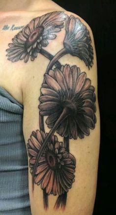 Done by Andreana at Supernova Tattoo Gerber Daisy