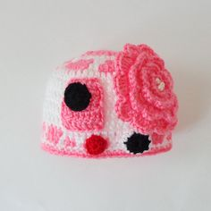 R2D2 Hat From Star Wars For Girl With Big Flower by KernelCrafts