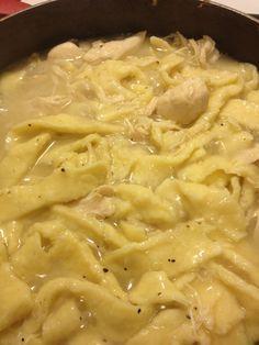 Bubbly, warm, satisfying, delicious chicken & noodles