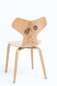 Völkommen - Fritz Hansen Grand Prix chair, tattoo by Pietro Sedda for Fantastic Wood project by Diego Grandi. On auction for Dynamo Camp http://www.charitystars.com/auctions?tid=565