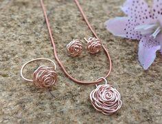 FREE SHIPPING Rose Gold Rose Set Rose Set Rose Gold Set