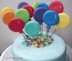 La Ventana Dulce: Tarta Globos Cumpleaños