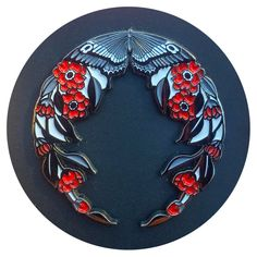 Image of Butterfly Wreath Enamel Pin