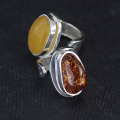 And these are amber beauties made by Mr. Baranowski who's currently teaching me the difficult art of soldering;)